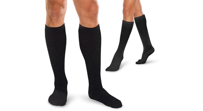 Men & Women's Black Travel Medical Socks