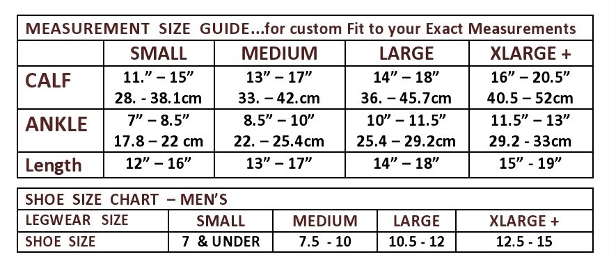 the natural mens sock size chart