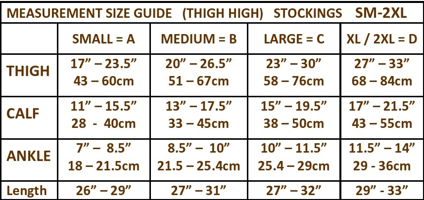 the natural shape to fit size chart