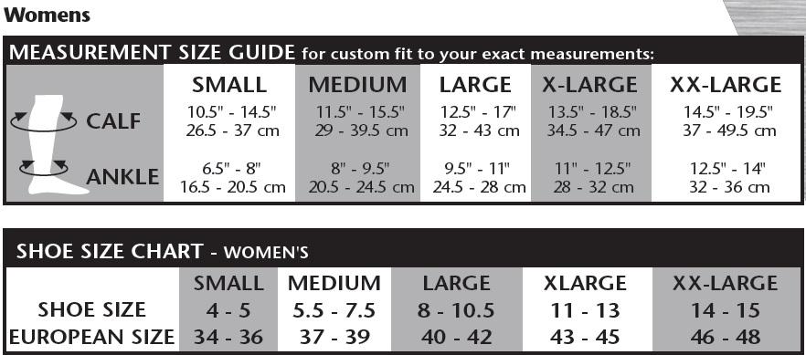 venosan-silverline-ladies-knee-sock-size-chart