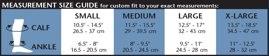 womens trouser sock size chart image